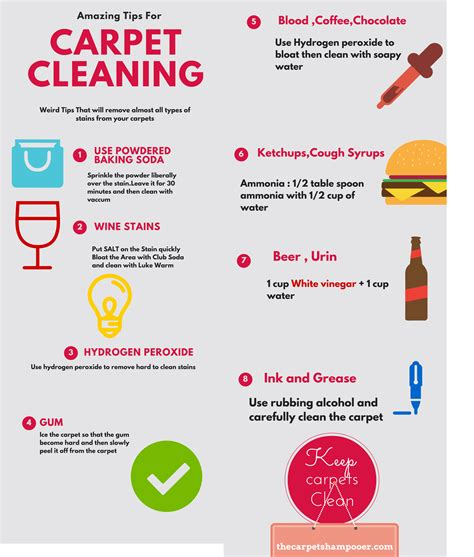 carpet cleaning tips weird carpet cleaning tricks visual ly