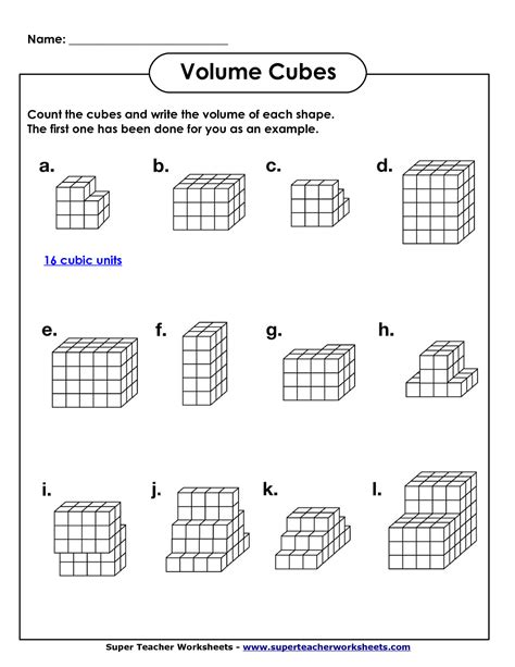 volume grade 5 worksheets volume geometry with cubic units pdf math worksheets