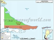 Tierra del Fuego Map, Province of Tierra del Fuego, Argentina