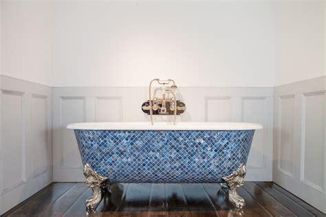 Blenheim Bath with Ocean Blue Pearl Mosaic Exterior