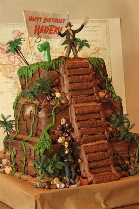 indiana jones cake ideas  pinterest indiana