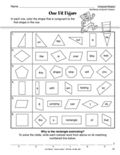 14 Best Images Of Similar Vs Congruent Shapes Worksheets  Difference Between Congruent And