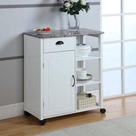 Kitchen Storage Cart  White  Walmartcom