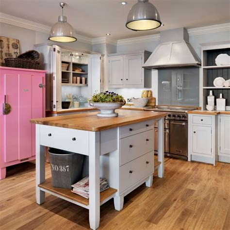 freestanding island for kitchen painted freestanding island kitchen island ideas housetohome co uk