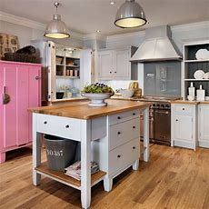 Painted Freestanding Island  Kitchen Island Ideas