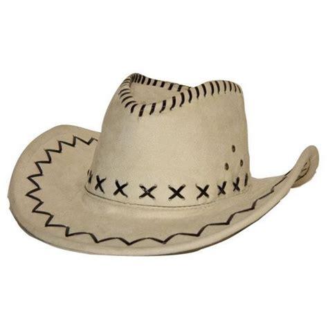 location materiel de cuisine accessoire déguisement chapeau cowboy simili cuir blanc