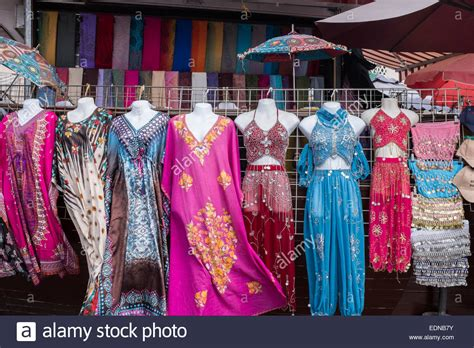 Women's clothing in old souk, Dubai, United Arab Emirates ...