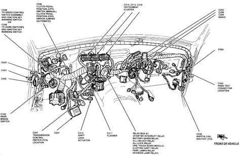 Warning Chime Wiring Diagram 1999 Ford Truck by On A 95 Ford Ranger Where Is The Parking L Relay