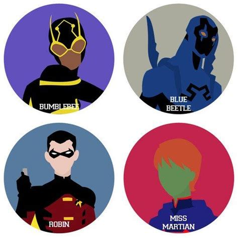Yj Minimalist Set  Young Justice (tv Show) Pinterest