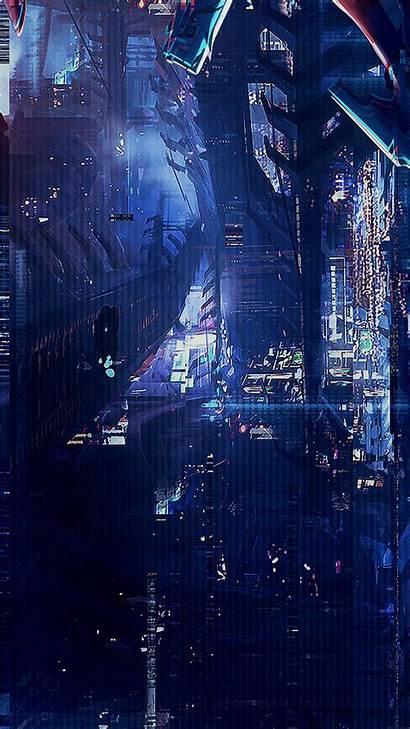 Anime Digital Urban Wallpapers Illust Iphone Af77