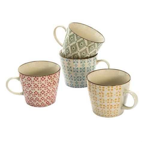 Set Keramik by Miavilla Keramik Becher Set 4 Tlg Retro Bunt Buecher De