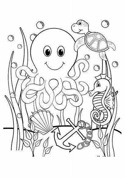 Coloring Ocean Sheet Sea Colouring Sheets Pages