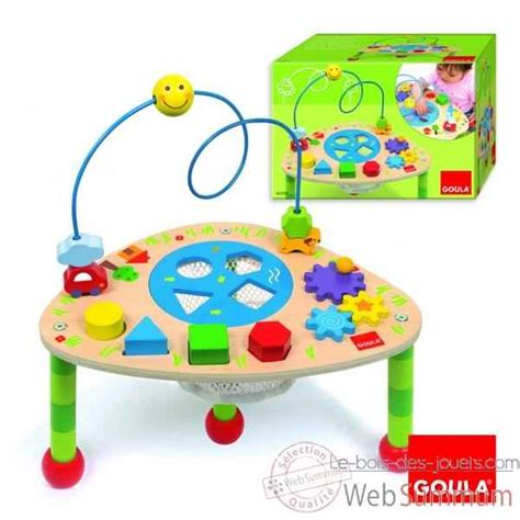 table d eveil en bois table activit 233 s goula dans jeu et eveil de jouet bois goula sur le bois des jouets