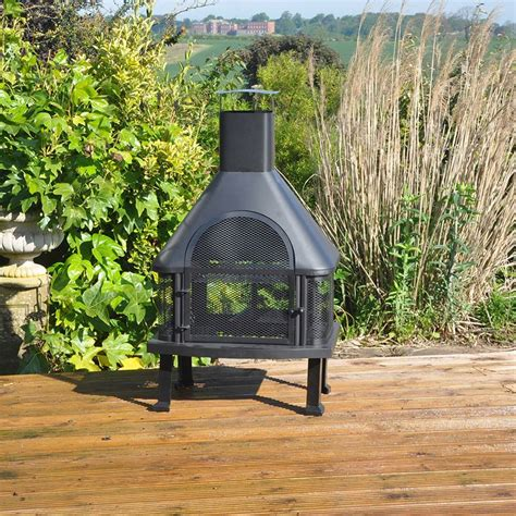 Garden Chimney by Outdoor Log Burner Chimney Bbq Heater Buy At Qd