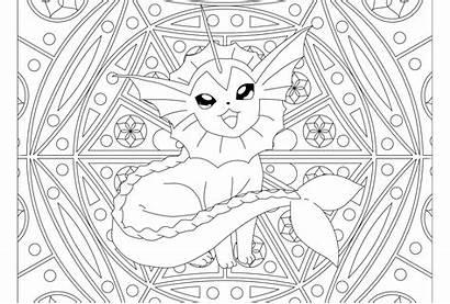 Pokemon Mandala Coloring Vaporeon Adult Ausmalbilder Coloriage