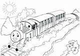 Train Coloring Drawing Steam Printable Tiger Diesel Bullet Station Tank Locomotive Thomas Friends Realistic Engine Getdrawings Caboose Getcolorings Percy Trains sketch template