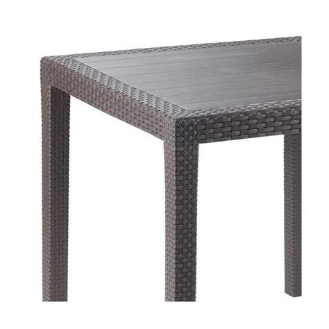 bazar cuisine table en résine tressée moka 14718 progarden home boulevard