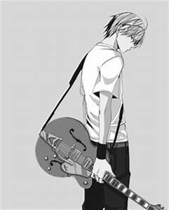 Pics For > Anime Guy With Guitar Sketch