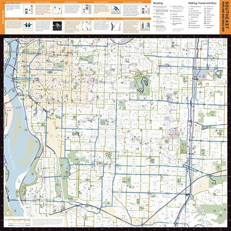 Southeast Portland Bike Walk Map