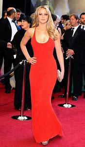 Jennifer Lawrence Red Dress Oscars