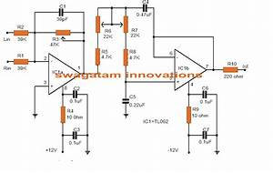 Make This Low Pass Filter Circuit For Subwoofer Applications