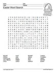 Printable Easter Word Search Puzzles