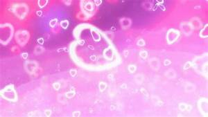 Purple and Pink Heart Bokeh Background Video Clip Motion ...