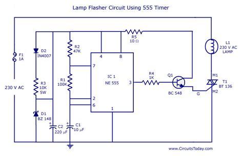 flasher circuit  ne circuit diagram world