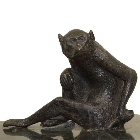 Maitland Smith Monkey Ls by Vintage Maitland Smith Marble Box Bronze Monkey From