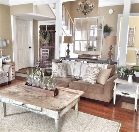 Rustic And Farmhouse Livingroom  H O M E  S W E E T  H