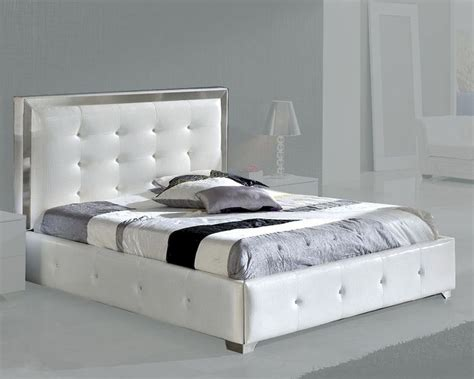 White Platform Bed by Modern Upholstered Platform Bed Valencia In White Made In