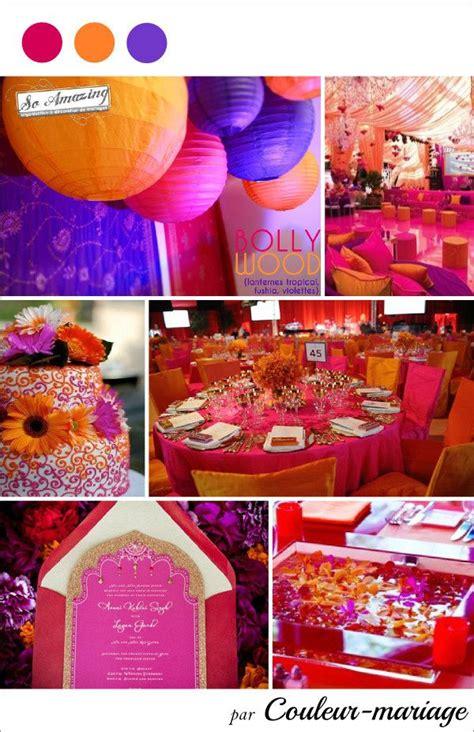 mariage fuchsia orange  violet couleur mariage