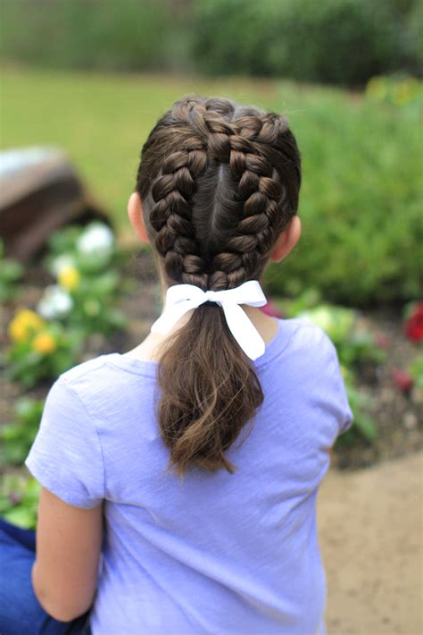 create  dutch loop braid cute girls hairstyles