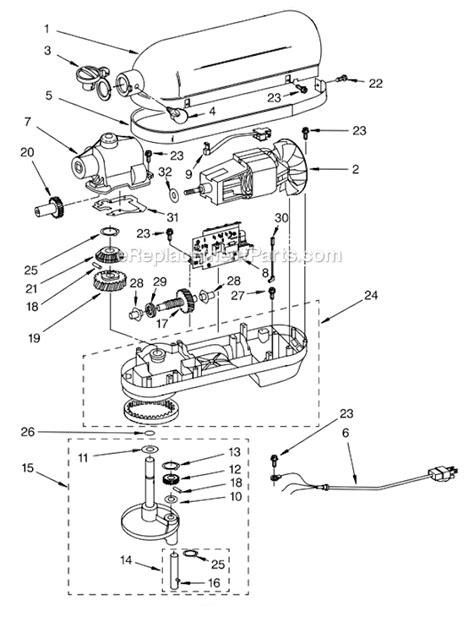 Kitchenaid Quart Mixer Parts List Besto Blog