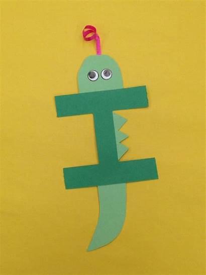 Preschool Letter Crafts Alphabet Iguana Craft Activities