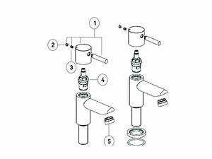 Bristan Blitz Basin Pillar Taps Shower Spares And Parts