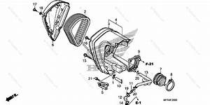 Honda Motorcycle 2010 Oem Parts Diagram For Air Cleaner