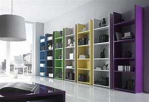 Bibliothèque Moderne Design : etag re biblioth que laqu design lorelis sept couleurs au choix ~ Teatrodelosmanantiales.com Idées de Décoration