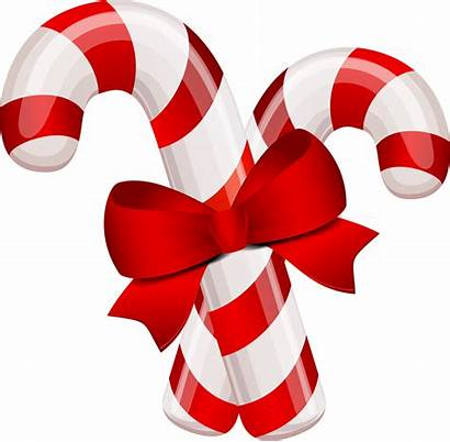 Candy Bow Canes Transparent Christmas Clipart Purepng
