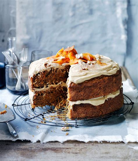 gourmet cing recipes ginger carrot cake with salted butterscotch frosting recipe gourmet traveller