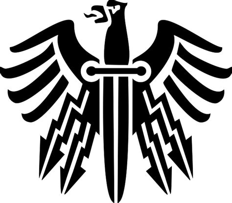 Free Illustration Knife, Revenge, Emblem, Bird, Eagle