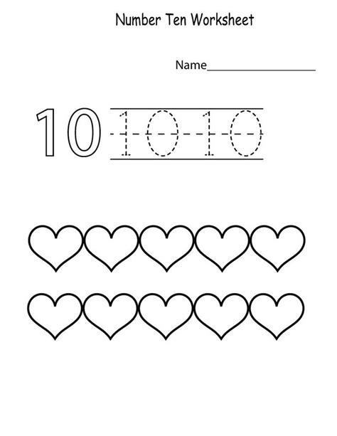 number  worksheet  preschool page lembar kerja menulis