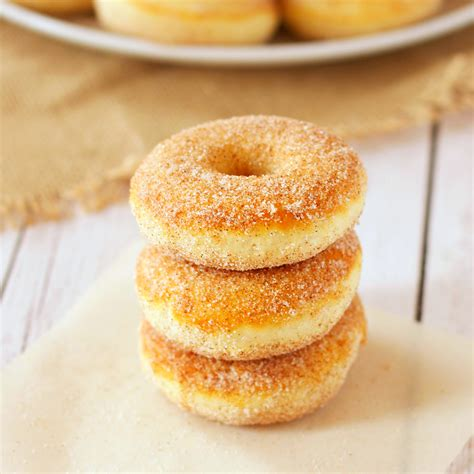 fashioned cinnamon sugar baked cake donuts  busy
