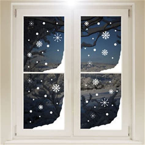 christmas snow window corners sticker white wall decal transfer xmas decorations ebay