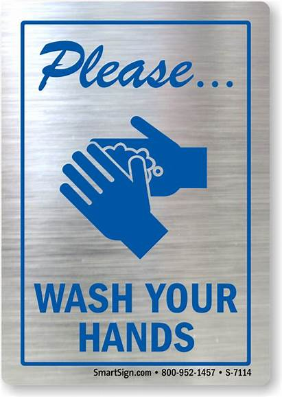 Wash Hands Please Washing Hand Sign Signs
