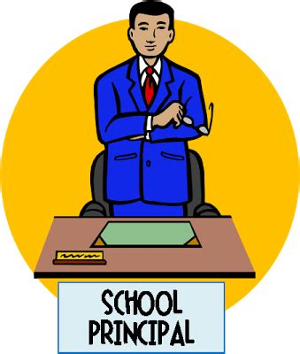 Principal Clipart Office Clipart School Principal Pencil And In