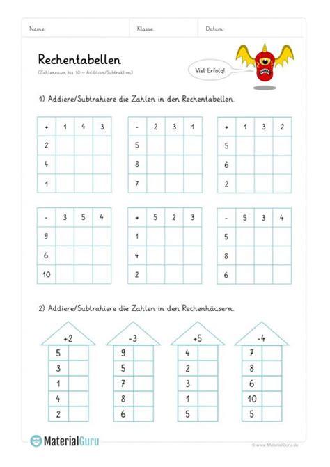 Diese kannst du dir ausdrucken und somit als vorbereitung für klassenarbeiten bzw. Arbeitsblatt: Rechentabellen Addition (bis 10) - Mix Aufgaben   Lesen lernen 1 klasse, Mathe für ...