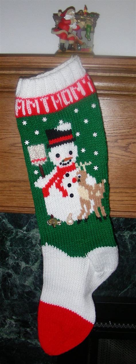 knitted christmas stockings ideas  pinterest