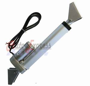 Linear Actuator 4 U0026quot  Heavy Duty With Brackets Stroke 225 Pound Max Lift 12 Volt Dc