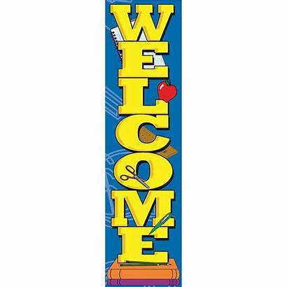 Vertical Welcome Banner Classroom Eureka Banners Signs
